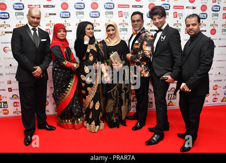 London, UK. 30th Sept, 2018. Asian Restaurant & Takeaway Awards | ARTA 2018 at InterContinental London - The O2, London, UK. 30 September 2018. Credit: Picture Capital/Alamy Live News - Stock Photo