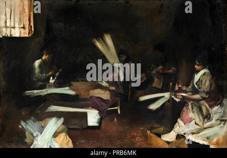 John Singer Sargent, Venetian Glass Workers, Circa 1880-1882, Oil on canvas, Art Institute of Chicago, USA. - Stock Photo