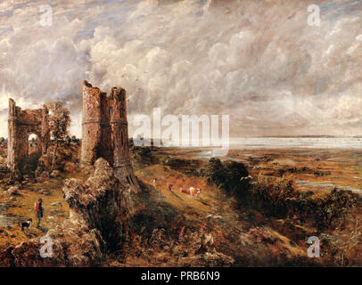 John Constable, Hadleigh Castle, The Mouth of the Thames Morning After a Stormy Night 1829 Oil on canvas, Yale Center for British Art, New Haven, USA - Stock Photo