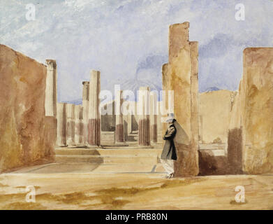 The Rev. Calvert Richard Jones, Jr., House of Sallust, Pompeii 1846 Salted paper print with applied color, Museum of Fine Arts, Houston, USA. - Stock Photo