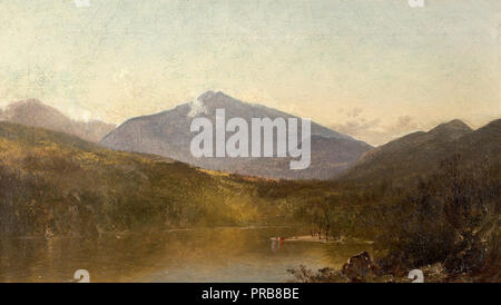 John Frederick Kensett, White Mountains from Shelburne, NH, Circa 1816-1872,1870 Oil on canvas, Savannah College of Art and Design, USA. - Stock Photo