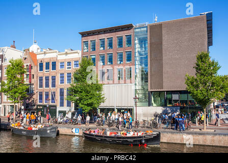 Amsterdam Anne Frank House Amsterdam Prinsengracht  Holland the Netherlands - Stock Photo