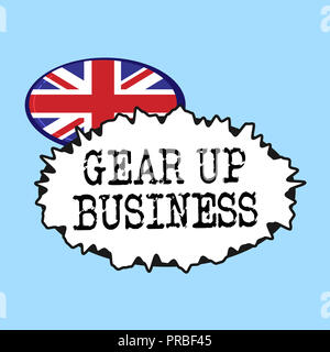 Word writing text Gear Up Business. Business concept for tool for assessing needs of idea and create plan. - Stock Photo