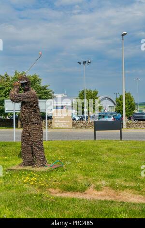 Inverness airport,  Inverness, Highland, Scotland, UK - Stock Photo