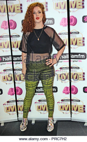 Jess Glynne at Hallam FM Summer Live at Sheffield Motorpoint arena on friday 18  July  2014 - Stock Photo