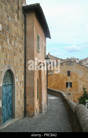 The medieval town of Tuscania in Lazio, Viterbo province, Italy - Stock Photo