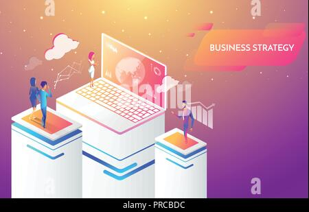 Business people working together and developing a successful business strategy, marketing and finance concept. - Stock Photo