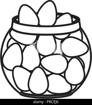 container with eggs isolated icon - Stock Photo