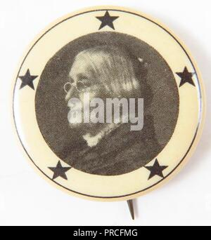 Black And White Suffrage Pin With A Portrait Of Susan B Anthony In Profile