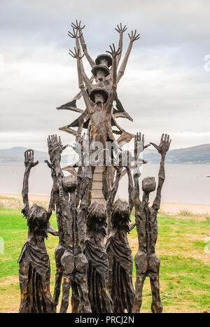 Irish national Famine Memorial, County Mayo, Ireland - Stock Photo