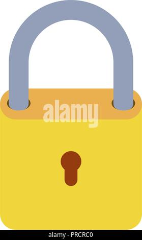 padlock locked isolated icon - Stock Photo
