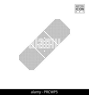 plaster patch dot pattern icon band aid dotted icon isolated on