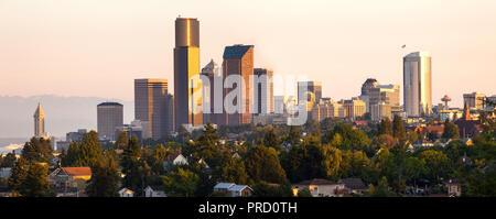 Downtown Seattle, Washington State, USA - Stock Photo
