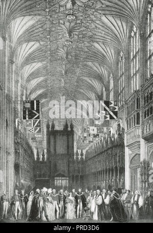 The Christening of Albert Edward, Prince of Wales, later King Edward VII, St George's Chapel, Windsor, Berks, England, 25 January 1842 - Stock Photo