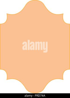 label decoration empty template isolated design vector illustration - Stock Photo