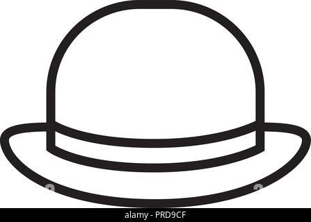 elegant british male hat icon vector illustration design - Stock Photo