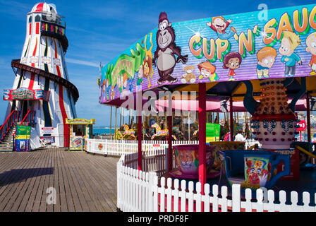 Helter skelter' on Brighton palace pier amusement area