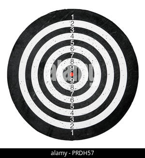 Target for darts or archering with black and white circles - Stock Photo