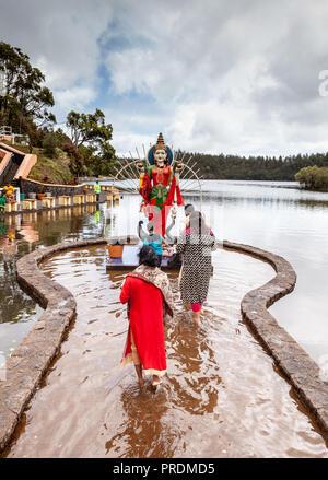 Ganga Talou (Grand Bassin) Hindu Temple, Mauritius - Stock Photo