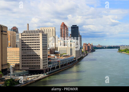View of FDR Drive from Ed Koch Queensboro Bridge - Stock Photo