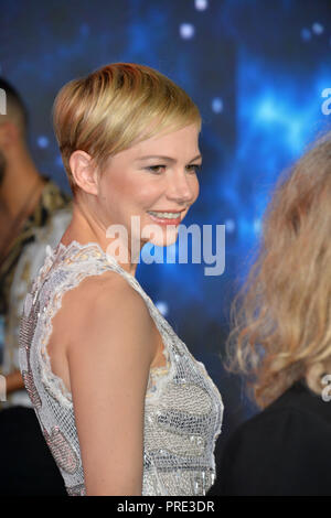 LOS ANGELES, CA. October 01, 2018: Michelle Williams at the world premiere for 'Venom' at the Regency Village Theatre. Picture: Paul Smith/Featureflash - Stock Photo