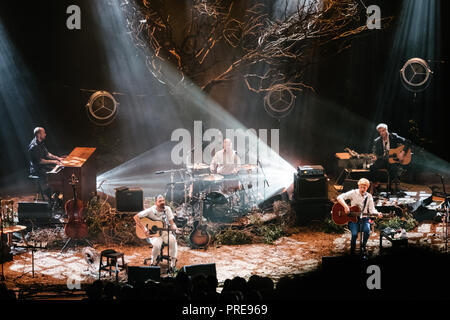 Milan, Italy. 1st October, 2018. The scottish band Biffy Clyro performs on stage during the MTV Unplugged European Tour. Luca Quadrio/Alamy Live News - Stock Photo