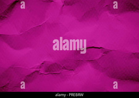 Pink background and wallpaper by crumpled paper, Pink and old of crumpled paper texture and empty and free space for text, Background by vintage of sc - Stock Photo