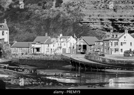 The historic village of Staithies, North Yorkshire coast , North East England, UK - Stock Photo