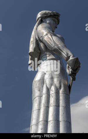 Mother of Georgia monument, Tbilisi capital city of Georgia, Caucasus - Stock Photo