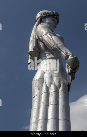 Mother of Georgia monument, Tbilisi capital city of Georgia, Caucasus - Stock Photo
