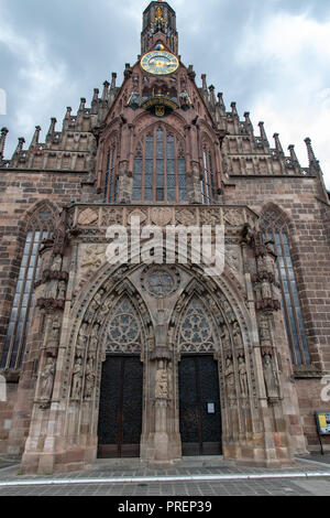 Church of Our Lady (Frauenkirche) in Nuremberg, Germany - Stock Photo