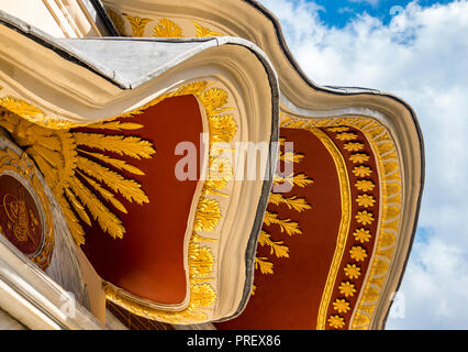 Istanbul, Turkey, September 22nd, 2018: Canopy of a building in the first courtyard of Topkapi Palace