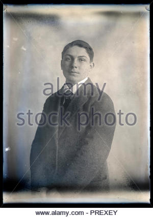 portrait of a young adult man circa 1920s - Stock Photo