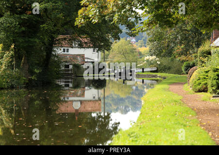 Hyde lock on the Staffordshire and Worcestershire canal near Kinver, Staffordshire, England,UK. - Stock Photo