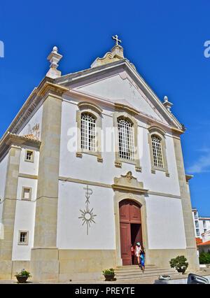 Parish Church Nossa Senhora da Conceição,Albufeira, Algarve, Portugal - Stock Photo