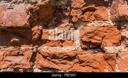 banner. A part of  Old  Red brick wall , for texture or background. - Stock Photo