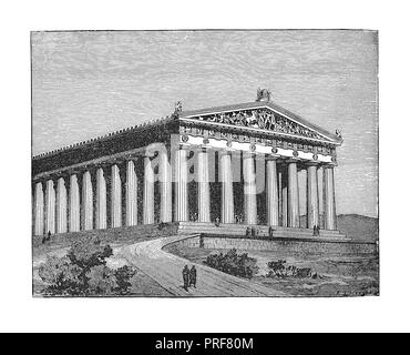 Original artwork of The Parthenon at time of Pericles. Published in A pictorial history of the world's great nations: from the earliest dates to the p - Stock Photo