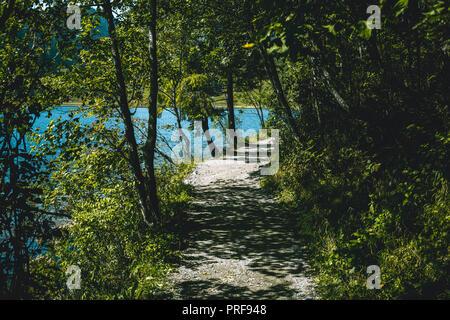 Malerische Landschaft am Schliersee, Bayern, Deutschland, Germany - Stock Photo