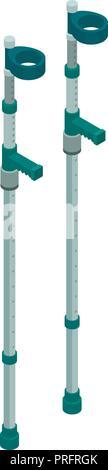 Elbow crutches icon, isometric style - Stock Photo