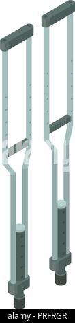 Medical crutches icon, isometric style - Stock Photo