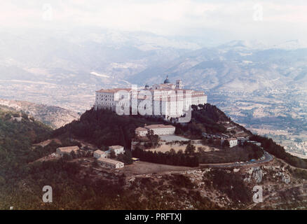Abbey of Monte Cassino italy - Stock Photo