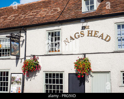 The Nags Head, Abingdon Bridge, Abingdon, Oxfordshire, England, UK, GB. - Stock Photo