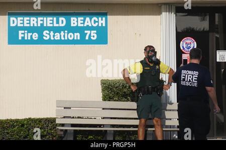 Deerfield Beach, FL, USA  2nd Oct, 2019  A Broward Sheriff's