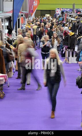 Birmingham, UK. 3rd October, 2018. The shopping mall. Horse of the year show (HOYS). National Exhibition Centre (NEC). Birmingham. UK. 03/10/2018. Credit: Sport In Pictures/Alamy Live News - Stock Photo