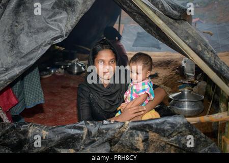 Rohingya refuges - Stock Photo