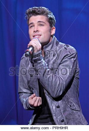 Joe McElderry at BRMB Live 2010 at the LG Arena in Birmingham on Saturday 27 November 2010 - Stock Photo