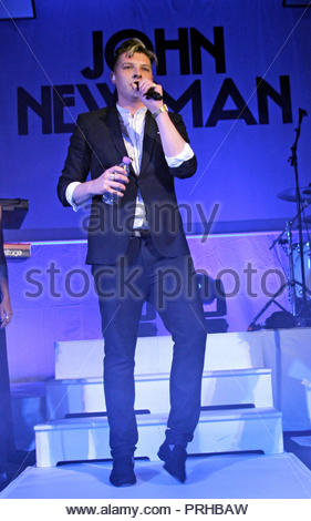 John Newman brings his 'Tribute' tour to the manchester academy 2 on Tuesday 29 October 2013 - Stock Photo