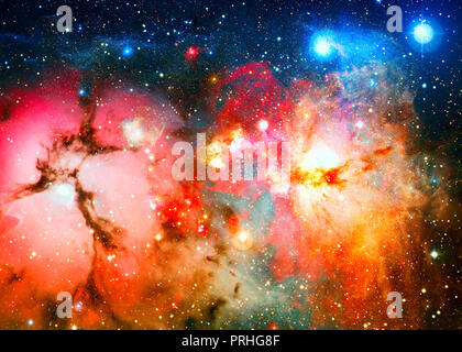 Bright galaxy in deep space. Elements of this Image Furnished by NASA - Stock Photo