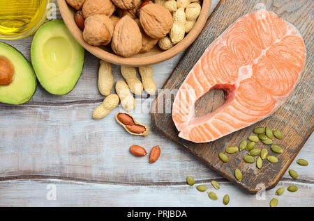 Selection of healthy fat sources. - Stock Photo