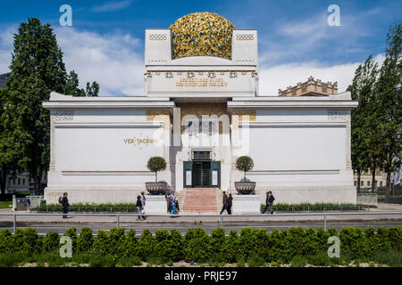 The Secession Building in Vienna, designed in 1898 by architect Joseph Olbrich and artists including Klimt, Hoffmann and Moser as an exhibition hall. - Stock Photo